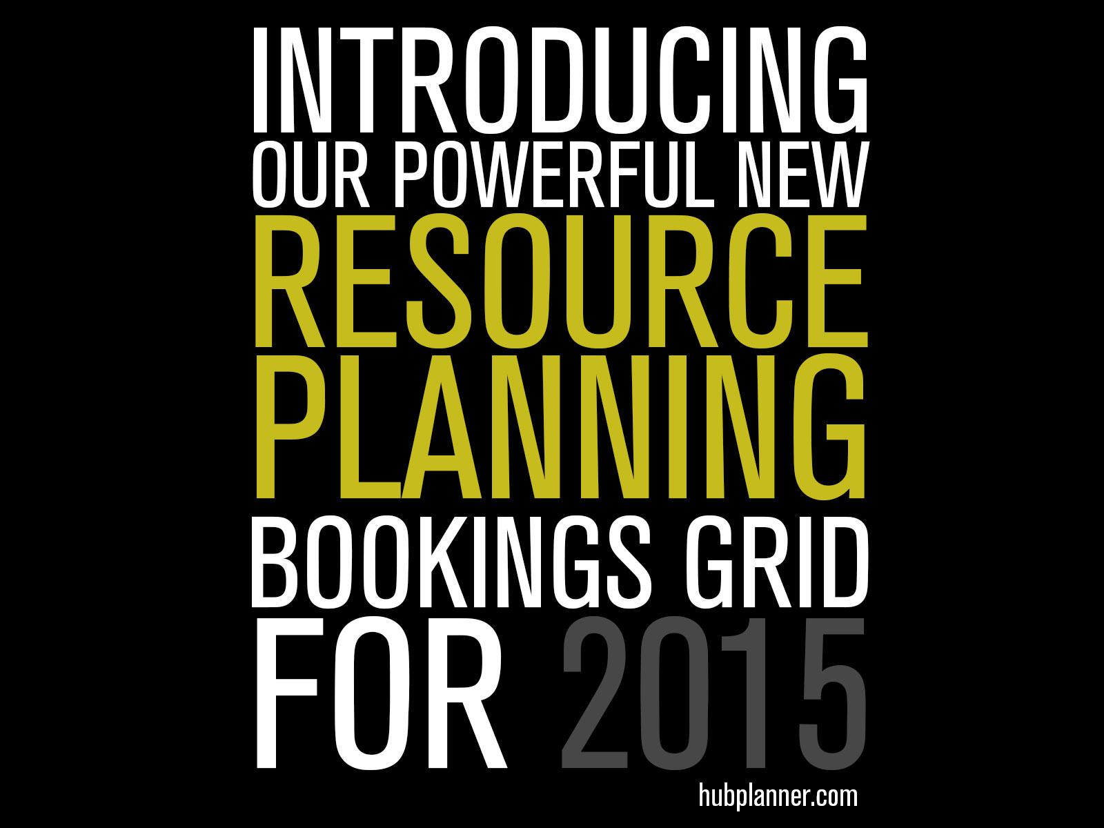 Resource Planning 2015