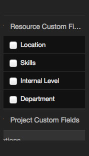 Reports Custom Fields