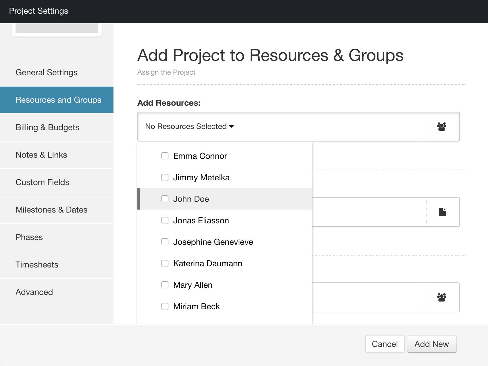 Hub Planner - Resources