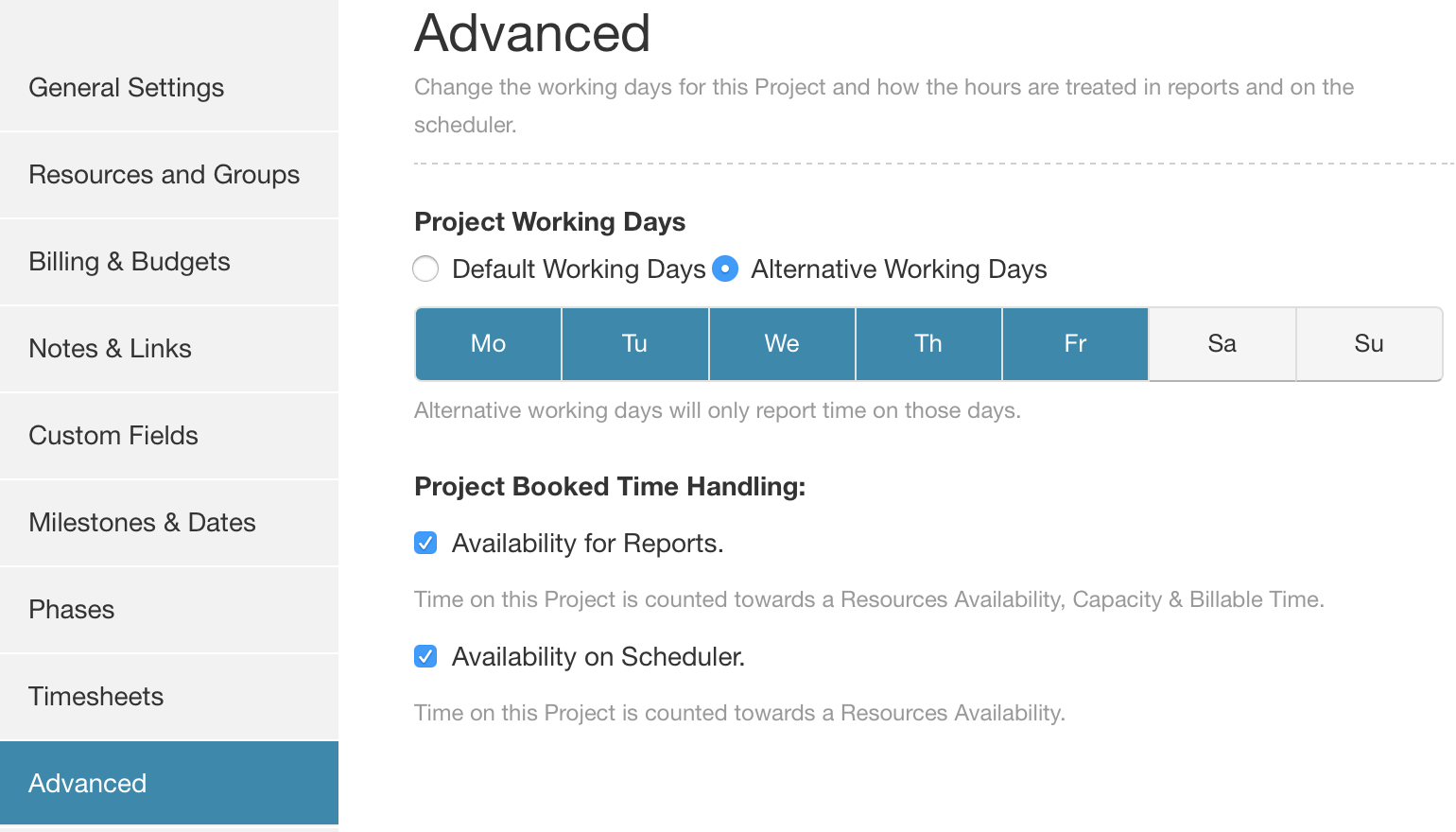 Hub Planner-Project Working Days