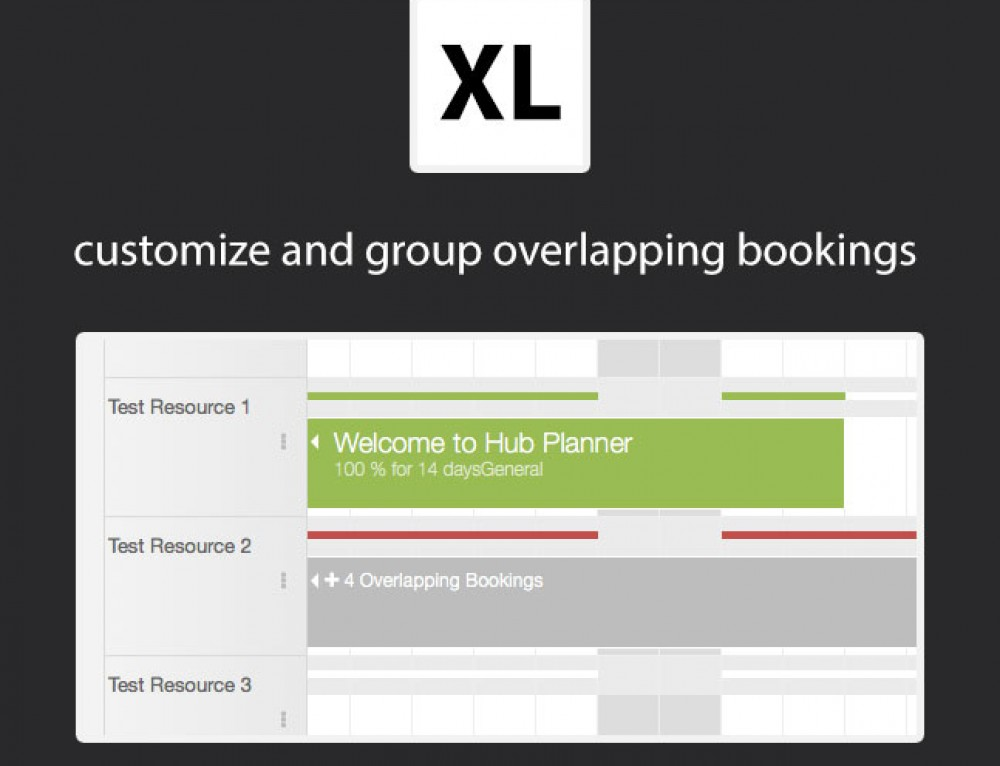 New Scheduler Customization Options & Grouping of Overlapping Bookings