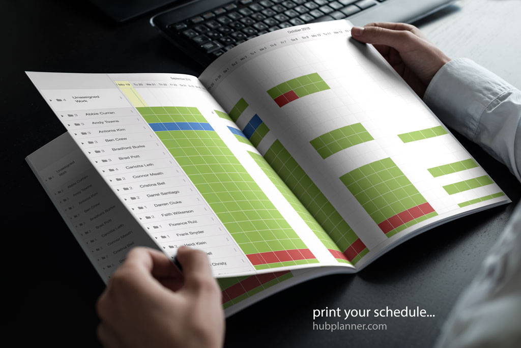 New Scheduler Print, Download and Export Data