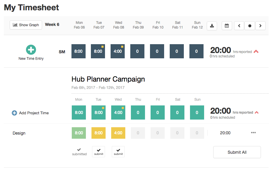Timesheets Design & UX Update