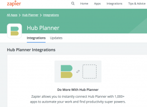 zapier integration hub planner