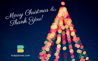 Merry Christmas & Thank You from Hub Planner