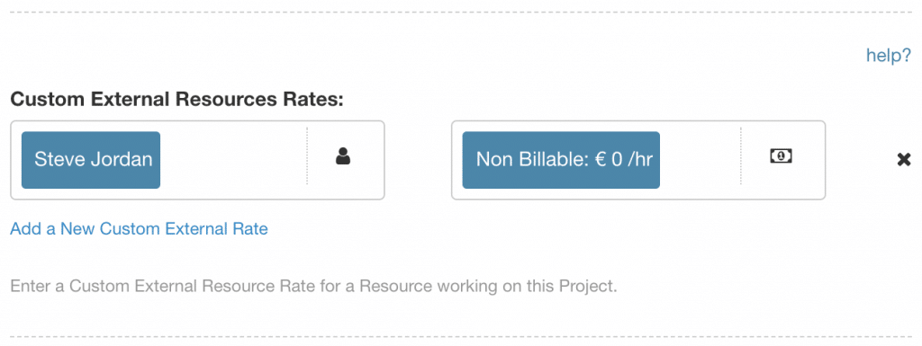 Setting a Team Member as a Non Billable Resource
